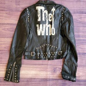 Womens size S The Who leather jacket